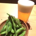 橋 - 美味しい生ビールと穫れたて枝豆。