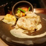 新上屋 - 錦爽鶏のマスタードのクリームソース