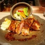 新上屋 - 松阪豚ソテーのタプナードソース