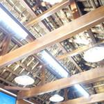 池本茶屋 - 構造材むき出しの天井