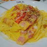 イタリアン・トマト カフェジュニア - 紅ズワイガニの豆乳カルボナーラ 780円