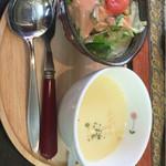 麦ばたけ - 日替わりスープはコーンでした。