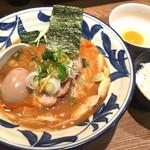 麺屋ぬかじ - 辛ラーメン+TKG 2016.12