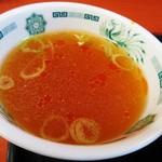 日高屋 - スープにはラー油