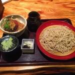 60021802 - ミニ天丼(海老無し)& ざる蕎麦