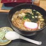 寿屋 寿庵 - 牡蠣そば  1200円 (税別)