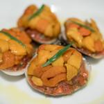 Enoteca Vita - 2016.12 冷製 生雲丹とハマグリのバッポーレ ケッカソース