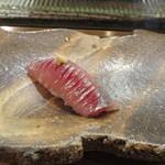 のんき寿司 - 地物の鯵。流石の地上がりです。