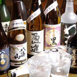 北国の種類豊富な日本酒をご用意!