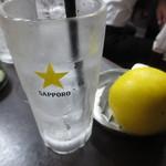 鳥やす本店 - 生レモンサワー