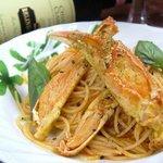シルエット - タラバガニのスパゲティー