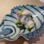 Gionokada - お通し 青菜と栄螺