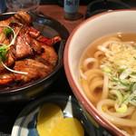 味処 あずま - 豚丼セット 830円 通称『豚セット』