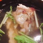國枝鮮魚店 - 鯛アラの潮汁(^^)