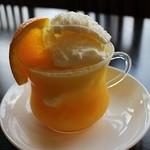 カフェ金花茶 - 氷つぶマンゴオレンジアイス