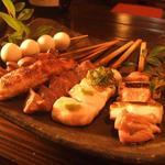 炭火台所 鶏丸 - 料理写真:得々鶏丸SET6串