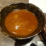 鉄板焼 開化屋 - 仔羊ロース鉄板焼きのソース