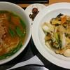 龍城 - 料理写真:台湾味噌ラーメン、中華飯