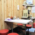 つるやラーメン - 比較的常連さんと思しき、オトコお一人様が、チャンポン食べてたり、ラーメン&チャーハンを食べてたり。