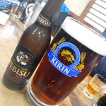 山田屋 - 生ビール大ジョッキ&エビスビール(4:6)