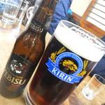 山田屋 - 生ビール大ジョッキ&エビス黒ビール(2:8)