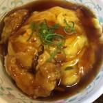 十八番 - 半天津飯☆★★☆エビ天が2個コロンと嬉しい ただ ご飯の量は減ってる