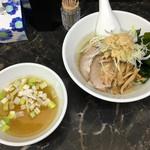 えんや - 料理写真:新小麦麺スタンプラリー「新小麦100%の塩つけ麺」1000円(2016年12月)