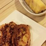 南国酒場リバーサイド - デザートのパインと、フレンチトースト