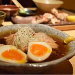 ごはんや一芯 - 豚の角煮(ランチ定食)@税込1,300円:個人的に、かなり理想的。半熟卵の仕上がりも抜かりなし。