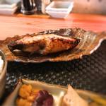 魚 上松 - 2016 12 厚切銀鱈味噌漬焼御膳 銀鱈アップ