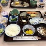 大沢温泉 菊水館 - 朝食。うまい。