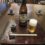 夢呆 - 瓶ビール・お通し(2016/12)