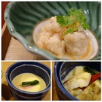 花万葉 - ◆上:南蛮づけ・・酢が強くないので食べやすいですね。 ◆下:茶碗蒸し・・いいお出汁を感じる美味しい品