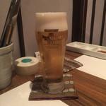 飛騨牛専門 華家 - 生ビール
