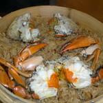 欣葉 - ワタリガニの濃厚な出汁で炊いたお米はモチモチ♪。