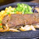 食事処 KEN PAPA - 料理写真:国産牛サーロインしょうが焼き(100g)