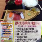 60066410 - 2016/12 再訪 開業16周年謝恩イベント300円Dayでした 刺身5点盛も300円です
