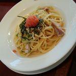 イタリアン・トマトカフェジュニア - 青のりイカのタラコクリーム650円