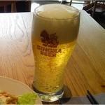 マンゴツリーカフェ - 2016/12ランチビール400円