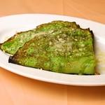 イタリア食堂 MARIA - 【冬限定】パセリのクレープ 白ネギとカリフラワーのオーブン焼き