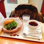 モスバーガー - モス野菜バーガー/ホットティー