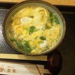 東京そば正家 - 卵とじそば