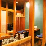 金寿司 - 店内(テーブル席 & 個室)