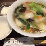 たけくま - 海老そば1100円税込の海老そば この他にライスと杏仁豆腐がつきます。