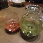 炭火割烹 蔓ききょう - 不老泉山廃仕込み紫ラベル(800円)