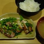 串よし - 2016.12 もも肉のねぎ塩だれランチ(600円)
