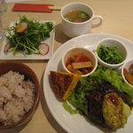 6008913 - 野菜ソースで食べるディップス特製ハンバーグランチ