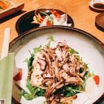 旬料理兆 - 湯葉と山芋のサラダ❣️生湯葉が美味しかったわww
