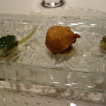 リストランテ プリマヴェーラ - 雪ノ下、たらの芽、弘法芋と白子のフリット