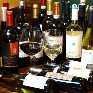 ワインは常時50種以上